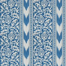 Blue Print Pattern Drapery and Upholstery Fabric by Vervain