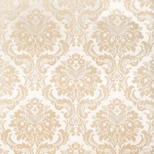 Beige Damask Drapery and Upholstery Fabric by Trend