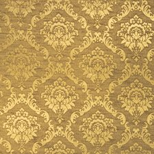 Gold Damask Upholstery And Drapery Fabric By Trend
