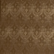 Pecan Paisley Drapery and Upholstery Fabric by Trend