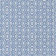 Blue/White Drapery and Upholstery Fabric by Schumacher