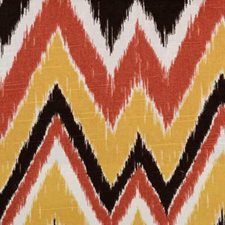 Flame Ethnic Drapery and Upholstery Fabric by B. Berger