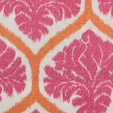 Pink Ethnic Drapery and Upholstery Fabric by B. Berger
