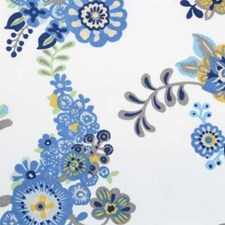 Blue Drapery and Upholstery Fabric by B. Berger