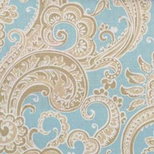 Natural/blue Drapery and Upholstery Fabric by B. Berger
