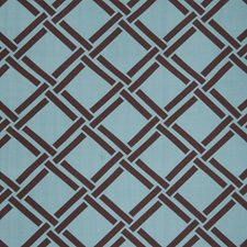 Turquoise Geometric Drapery and Upholstery Fabric by Trend