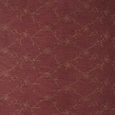 Burgundy Embroidery Drapery and Upholstery Fabric by Trend