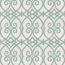 Peacock Geometric Drapery and Upholstery Fabric by Trend