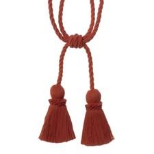Tie Back Poppy Red Trim by Duralee