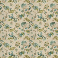 Peacock Floral Drapery and Upholstery Fabric by Trend