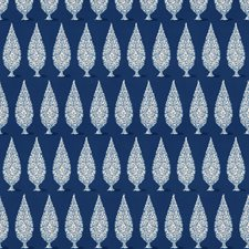 Navy Geometric Drapery and Upholstery Fabric by Stroheim