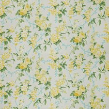 Lemon Floral Drapery and Upholstery Fabric by Stroheim