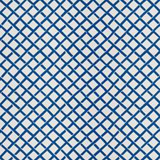 Blue Geometric Drapery and Upholstery Fabric by Stroheim