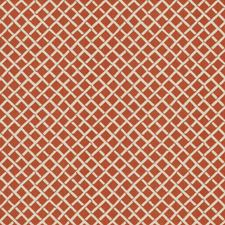 Persimmon Lattice Drapery and Upholstery Fabric by Stroheim