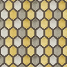 Citron Geometric Drapery and Upholstery Fabric by Fabricut