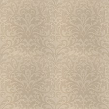 Mushroom Scrollwork Drapery and Upholstery Fabric by Fabricut