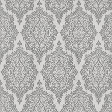 Grey Medallion Drapery and Upholstery Fabric by Fabricut
