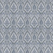 Blue Geometric Drapery and Upholstery Fabric by Fabricut