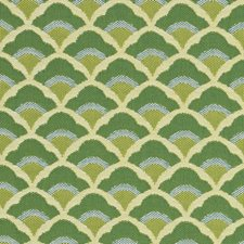 Kelly Green Drapery and Upholstery Fabric by Schumacher
