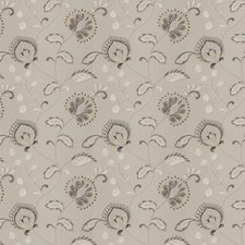 Charcoal Embroidery Drapery and Upholstery Fabric by Fabricut