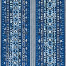 Blue Multi Drapery and Upholstery Fabric by Schumacher
