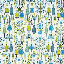 Blue/Green Drapery and Upholstery Fabric by Schumacher