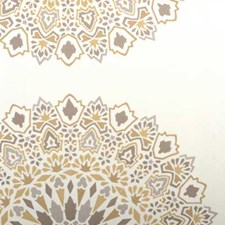 Bronze Ethnic Drapery and Upholstery Fabric by Highland Court