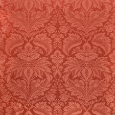 Pepper Red Damask Drapery and Upholstery Fabric by Brunschwig & Fils