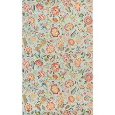 Aqua/Rose Botanical Drapery and Upholstery Fabric by Brunschwig & Fils