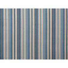 Indigo/Aqua Stripes Drapery and Upholstery Fabric by Brunschwig & Fils