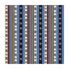 Bleu Stripes Drapery and Upholstery Fabric by Brunschwig & Fils