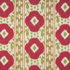 Pink/Green Ikat Drapery and Upholstery Fabric by Brunschwig & Fils