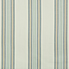 Sea/Blue Stripes Drapery and Upholstery Fabric by Brunschwig & Fils