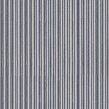Indigo Stripes Drapery and Upholstery Fabric by Brunschwig & Fils