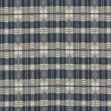 Navy Plaid Drapery and Upholstery Fabric by Brunschwig & Fils