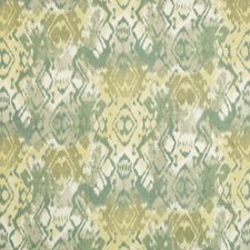Green Ikat Drapery and Upholstery Fabric by Brunschwig & Fils