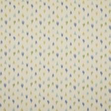Aqua/Leaf Ikat Drapery and Upholstery Fabric by Brunschwig & Fils