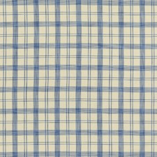 Blue Plaid Drapery and Upholstery Fabric by Brunschwig & Fils