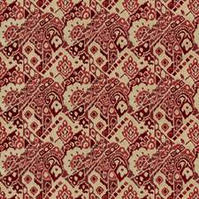 Red Velvet Drapery and Upholstery Fabric by Brunschwig & Fils
