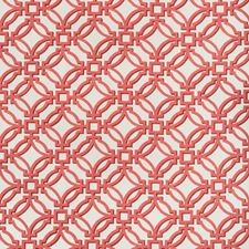 Ruby Geometric Drapery and Upholstery Fabric by Brunschwig & Fils