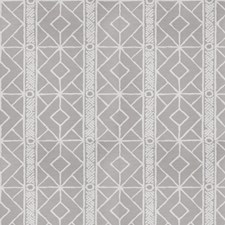 Grey Lattice Drapery and Upholstery Fabric by Stroheim