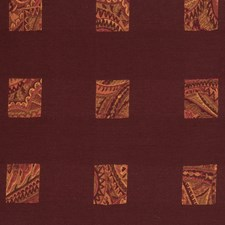 Cinnabar Geometric Drapery and Upholstery Fabric by S. Harris