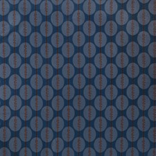 Cobalt Geometric Drapery and Upholstery Fabric by S. Harris