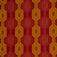 Beetroot Geometric Drapery and Upholstery Fabric by S. Harris