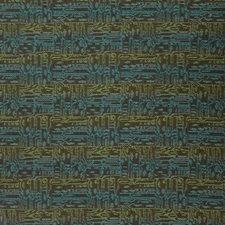 Deep Sea Geometric Drapery and Upholstery Fabric by S. Harris