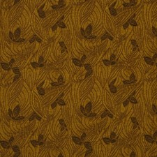 Golden Brown Floral Drapery and Upholstery Fabric by S. Harris