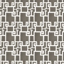 Pewter Geometric Drapery and Upholstery Fabric by S. Harris