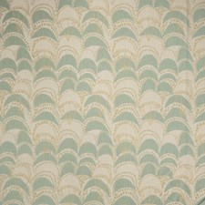 Seaglass Geometric Drapery and Upholstery Fabric by S. Harris