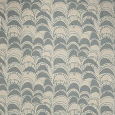 Ocean Geometric Drapery and Upholstery Fabric by S. Harris