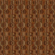 Cinnamon Geometric Drapery and Upholstery Fabric by S. Harris